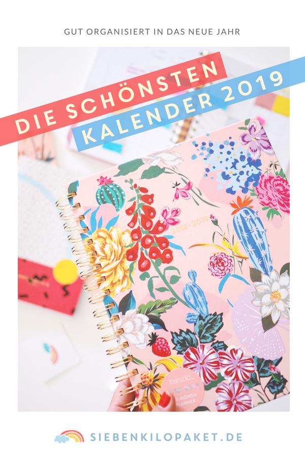 Die schönsten Kalender 2019 - gut organisiert in das neue Jahr - Planer und Agenda von bando, kikki.k, rifle paper - Inspiration und Organisation