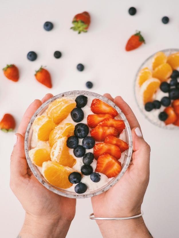 Ernährung letztes Drittel Schwangerschaft Obstsalat Vitamine