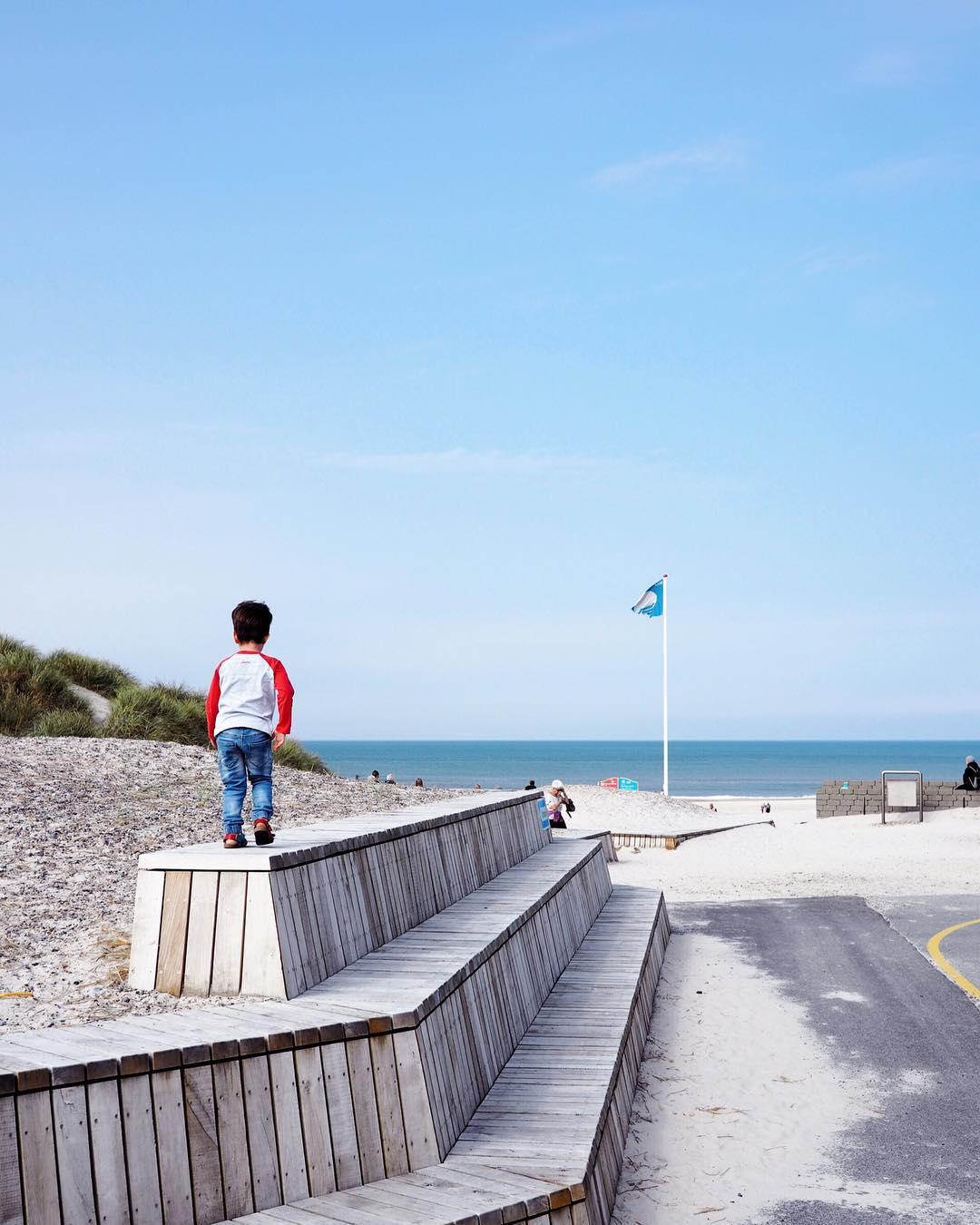 Kinderfreundlich Dänemark Strandurlaub Henne Strand Familie