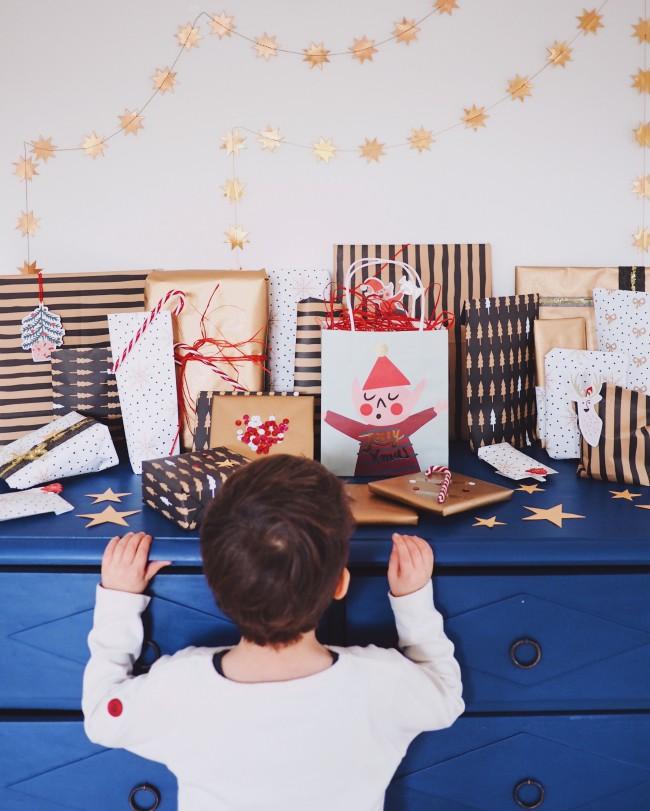 Geschenke schön verpacken Adventskalender Kinder