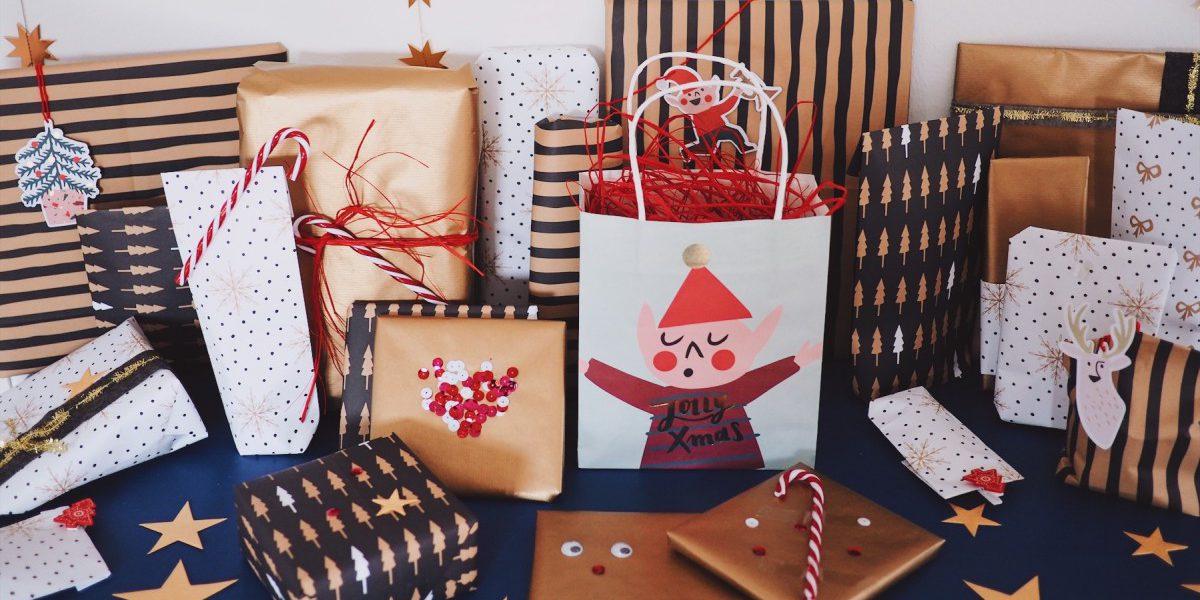 Geschenke verpacken Ideen Weihnachten DIY