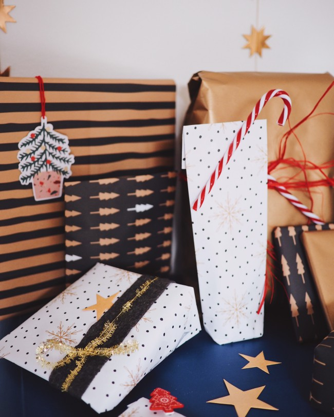 Geschenke verpacken Ideen Weihnachten