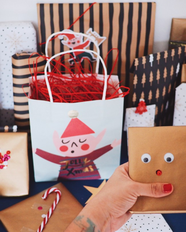 Weihnachtliche Geschenkideen Geschenke einpacken mit Kindern
