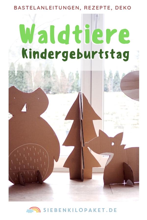 Kindergeburtstag Waldtiere: viele Dekoideen, DIY und Rezepte für eine unvergessliche Geburtstagsparty! #geburtstag #woodland