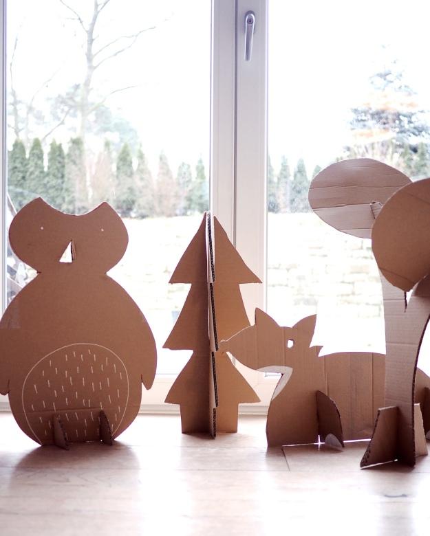 Dekoideen Kindergeburtstag Waldtiere basteln DIY