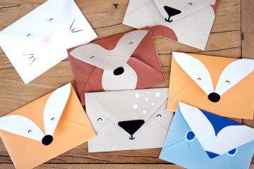 Kindergeburtstag Einladungskarte Waldtiere basteln selbstgemacht