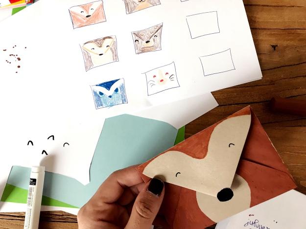Kindergeburtstag Einladungskarte basteln Waldtiere Woodland Igel