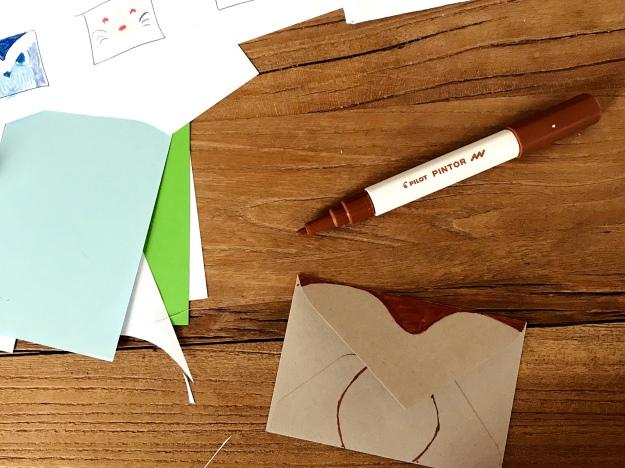 Kindergeburtstag Einladungskarte selbermachen Bastelidee