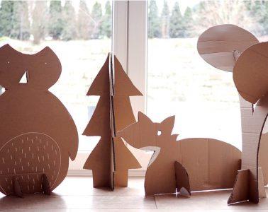 Kindergeburtstag Waldtiere Mottoparty - Bastelideen DIY Rezepte