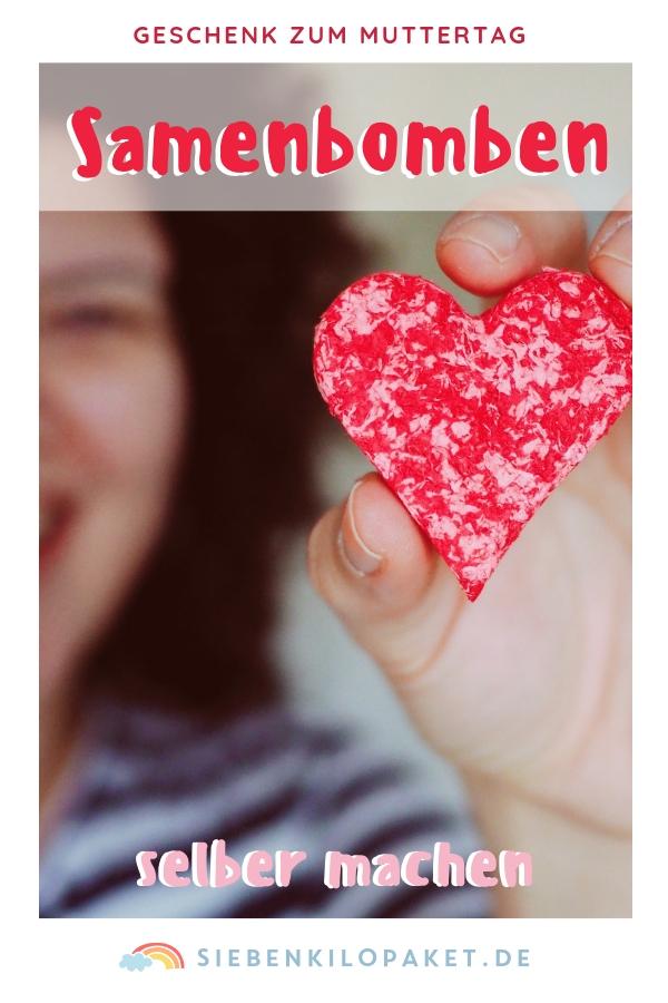 Samenbomben selber machen - Geschenkidee Muttertag - Valentinstag - Herz zu verschenken - Abschiedsgeschenk Kindergarten Erzieherinnen
