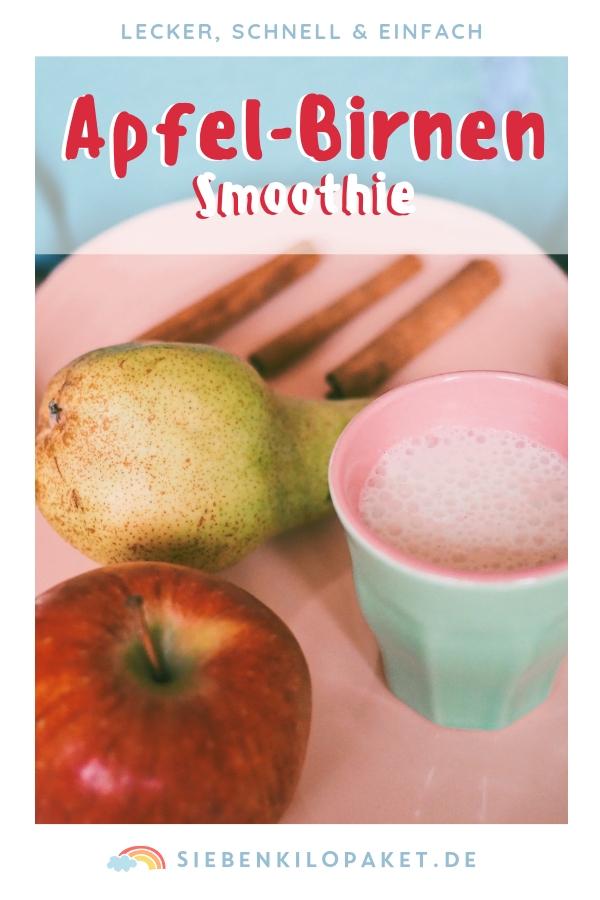 Apfel-Birnen-Smoothie mit Zimt Winterrezept