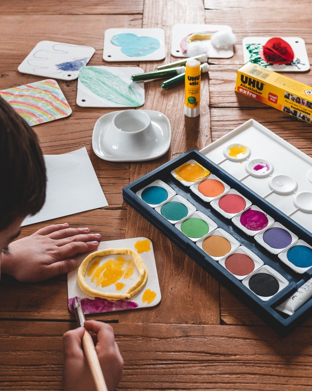Sonne malen mit Kindern