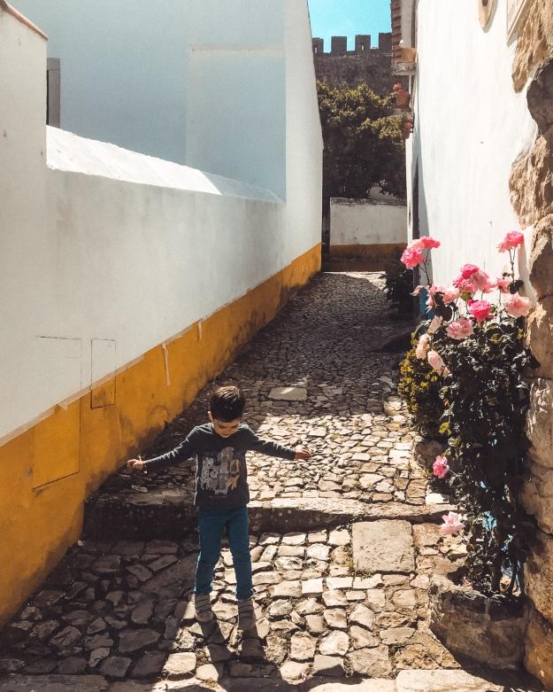 Obidos Portugal mit Kindern