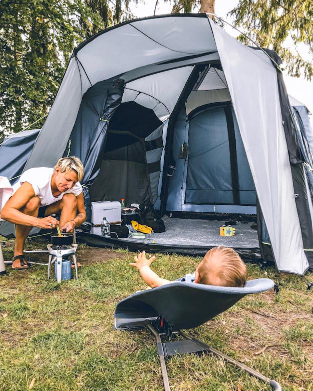 Zelten mit Baby und Kind