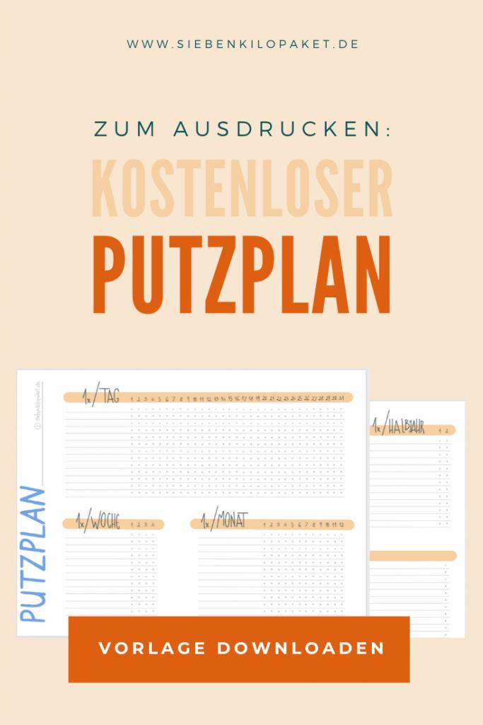 Xxl Putzplan Vorlage Mit Checkliste Haushaltsplan 10